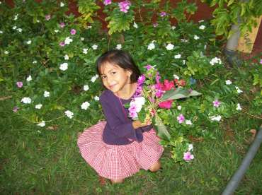 heydi with flowers